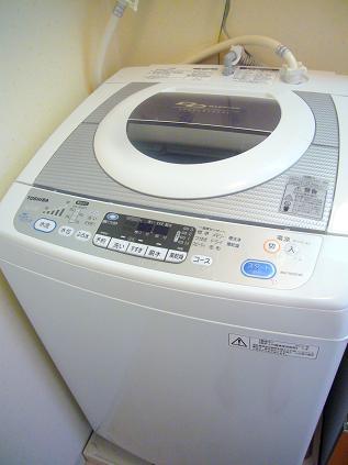 新しい洗濯機が届いたよ