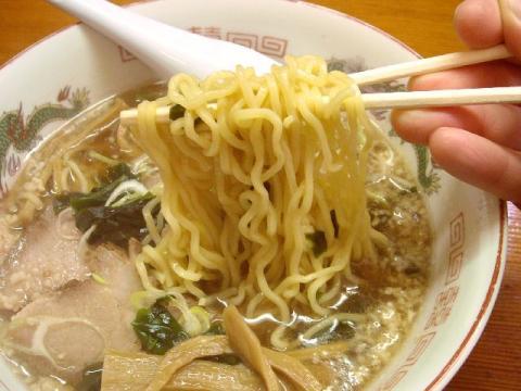 やじろう新小路店・H22・10 醤油チャシュウメン 麺