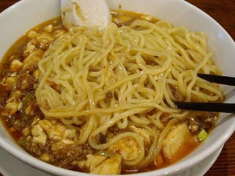 王風亭・麻婆麺 麺