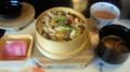 鶏五目ご飯 味噌汁 香の物