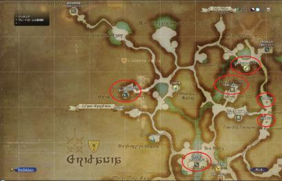 グリダニアマップ