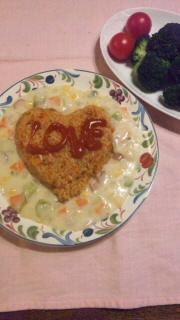 バレンタイン トマトピラフ