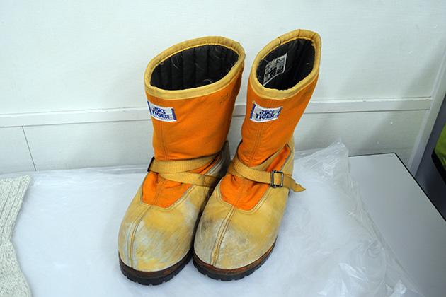 南極観測隊員のブーツ