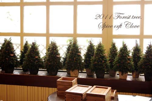 クリスマスのフォレストツリー