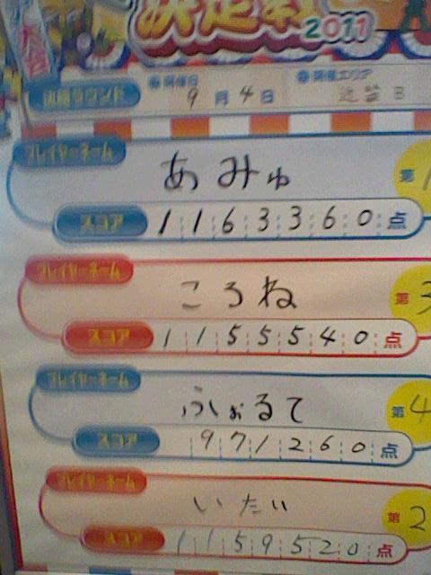 エリア2011決勝ラウンド参加者