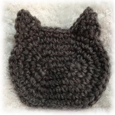 ウール糸使用ロシアンブルー色の猫ちゃん