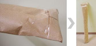タペストリーの送り方 紙で包む2