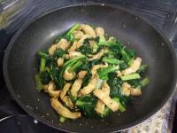 雪菜と油揚げの醤油炒め