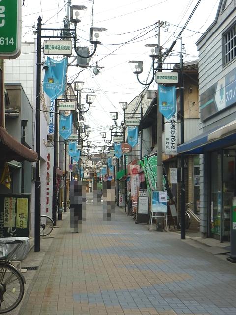 諏訪ノ森の商店街