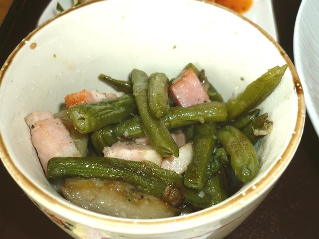 夏野菜とベーコンのソテー