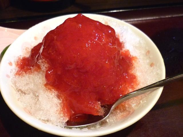 自家製苺ソースのかき氷