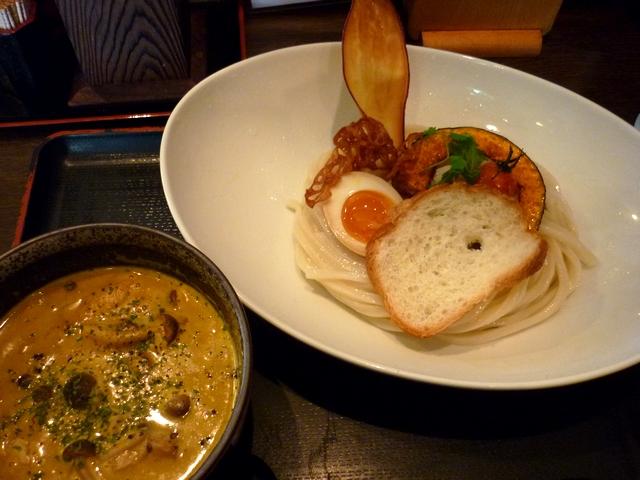 カボチャのポタージュつけ麺