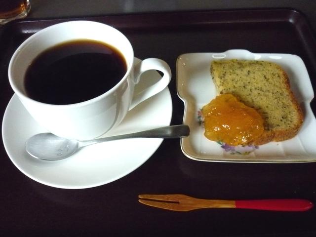水出しコーヒーとデザート