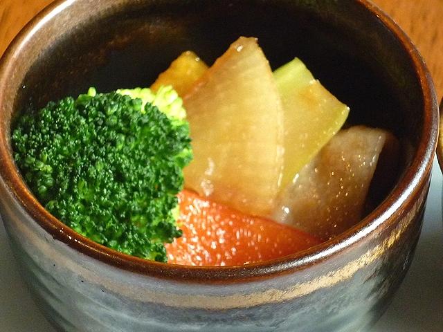 豚肉と大根とブロッコリーのオイスター煮