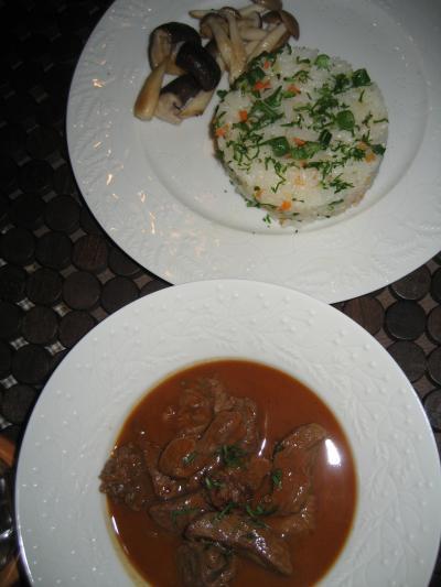 料理:ビーフストロガノフ