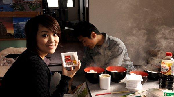 納豆を見て喜ぶアン(台湾)