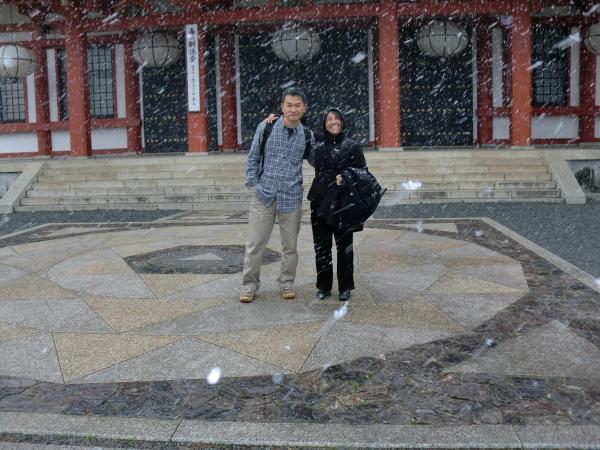 カウチサーフィン(カナダ・コロンビア・アリス)、京都の鞍馬寺にて。