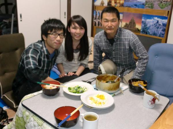 カウチサーフィン(中国・香港、アイシィー)、カレー、我が家にて。