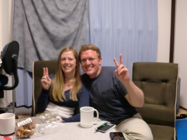 カウチサーフィン(アメリカ、ケーシーとアダム)、我が家にて。