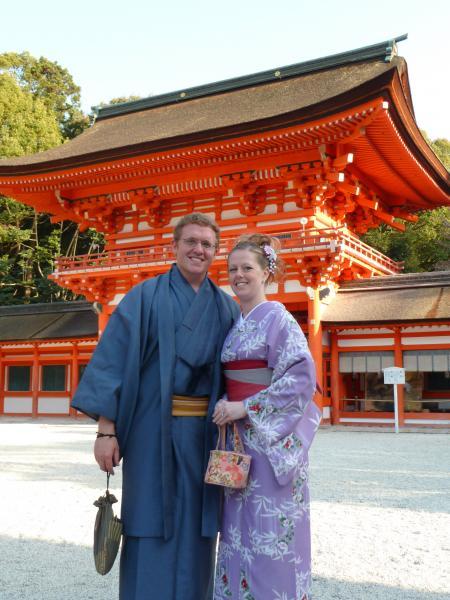 カウチサーフィン(アメリカ、ケーシーとアダム)、下賀茂神社