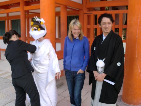 カウチサーフィン(ニュージーランド)、リリィーと下賀茂神社と結婚式と。