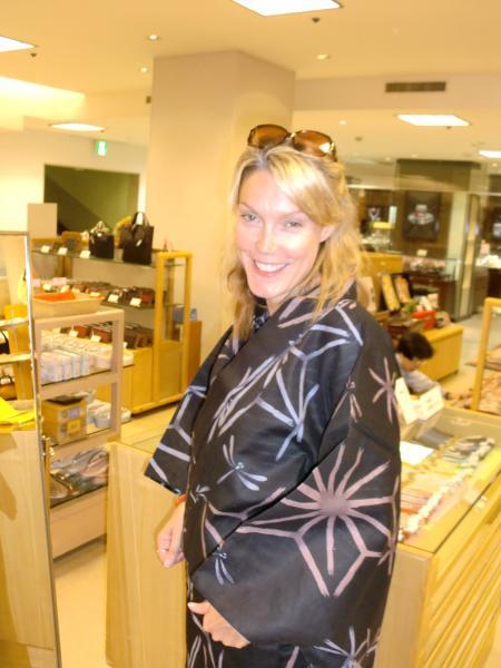 カウチサーフィン(ニュージーランド、リリィー)、浴衣。