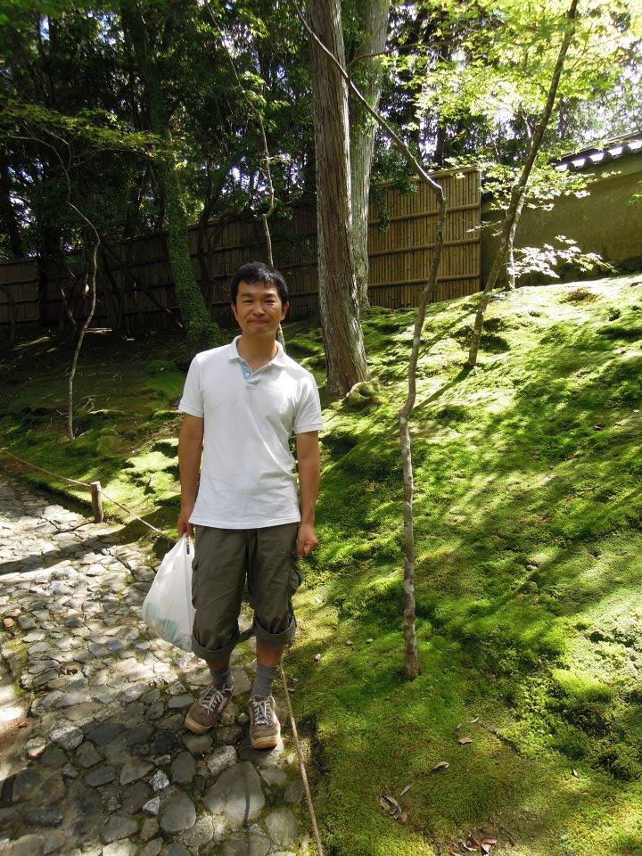 私。苔寺にて