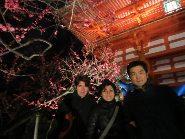 CouchSurfing(マリエラとサブリナと私。清水寺の山門前にて。)