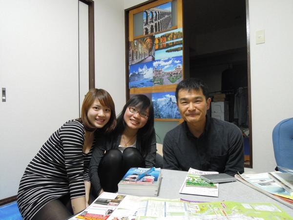 CouchSurfing(カウチサーフィン):リャオとイェー(台湾)。
