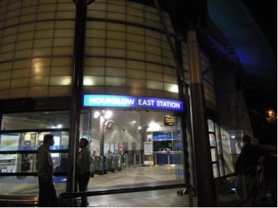 待ち合わせの駅。ロンドン郊外