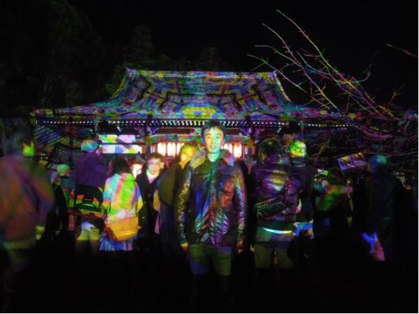 カウチサーフィン(カジさん、日本)、法輪寺のライトアップ