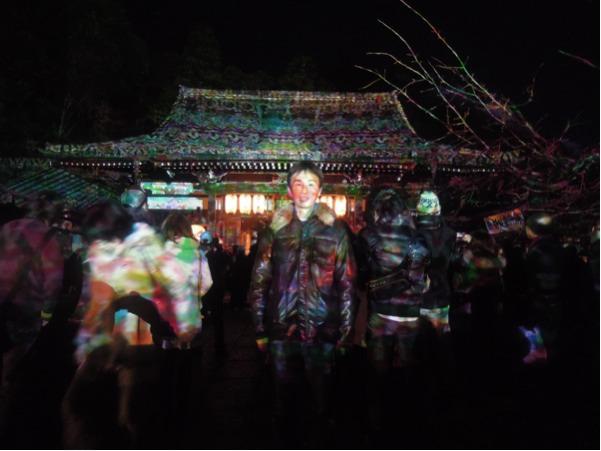 法輪寺のライトアップ・その2