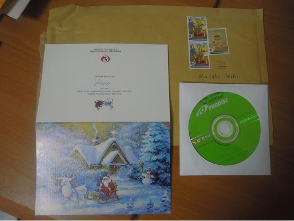 クリスマスカードとCD