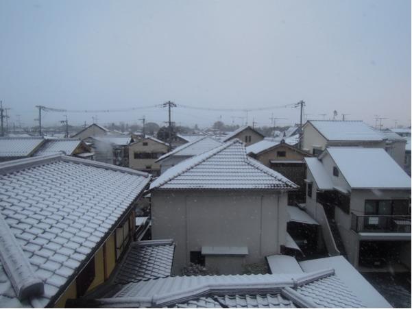 京都は雪が積もりました