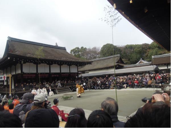 下賀茂神社の蹴鞠始めの儀式