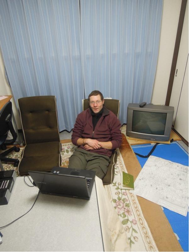 カウチサーフィン(ジョン、イギリス)、私の部屋にて