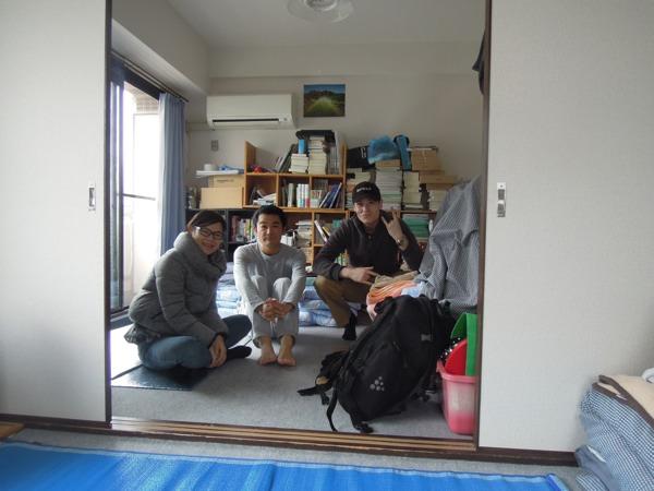 カウチサーフィン(エイ、日本、中国)、(マーク、アメリカ)