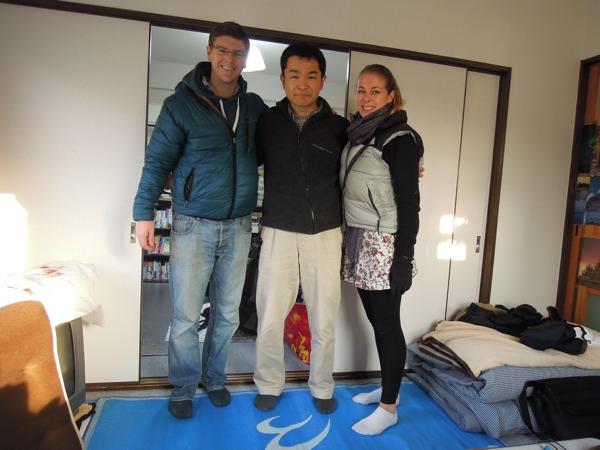 カウチサーフィン(クレアとマット、イギリス)、私の部屋にて。