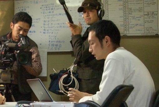 増田が就職活動生の名刺屋さん事業で取材を受ける