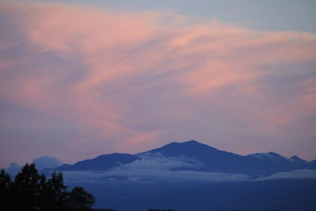 119山の下に雲海