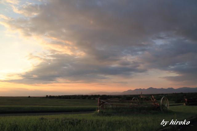 036牧場の夕景