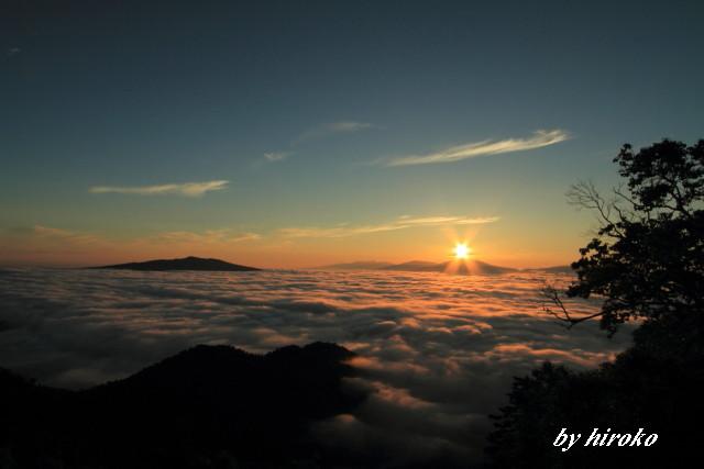081朝陽に染まる雲海