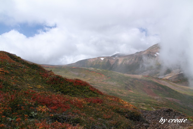 233北海岳下山途中