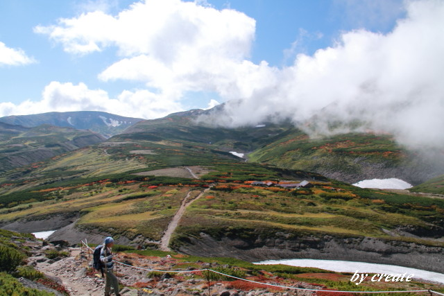 360黒岳を目指しながら振り返って