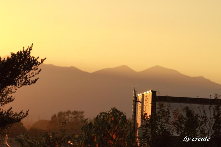 0032Fから見た夕景