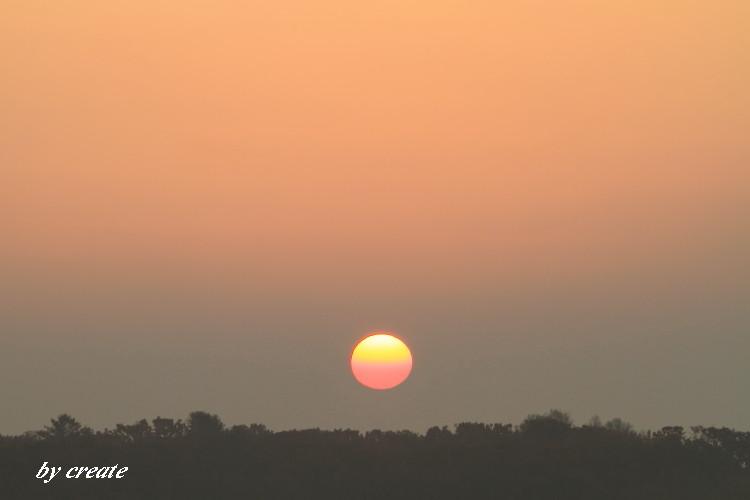 095グラデーションの太陽