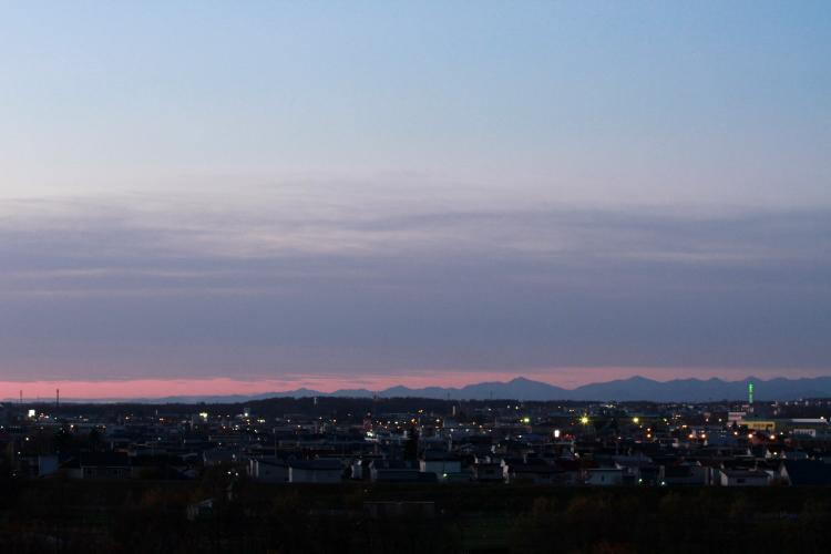 DPP 014 朝焼けに映える日高山脈0001