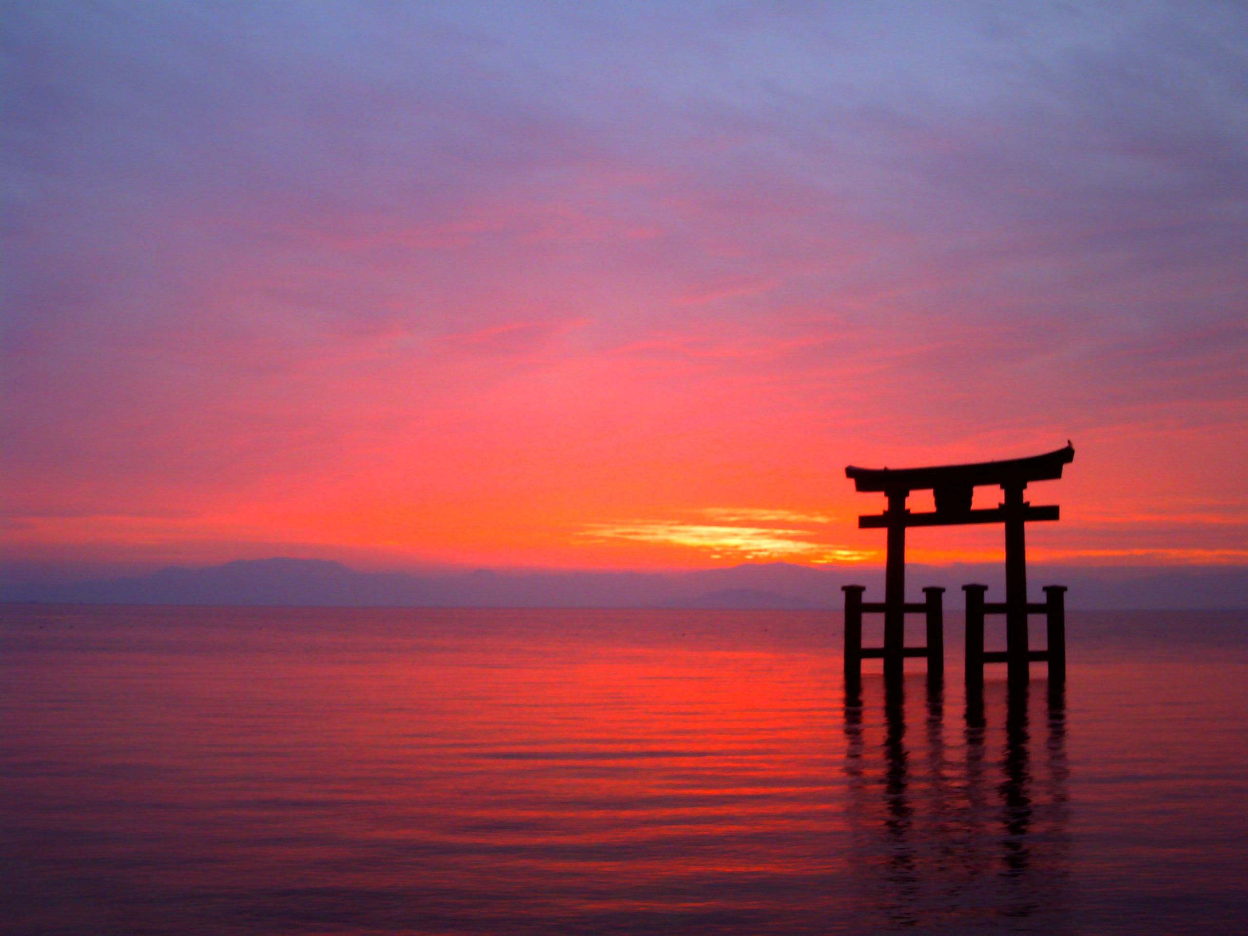 甘蜜1初冬の朝焼け(出先・旅先)vivicam5050