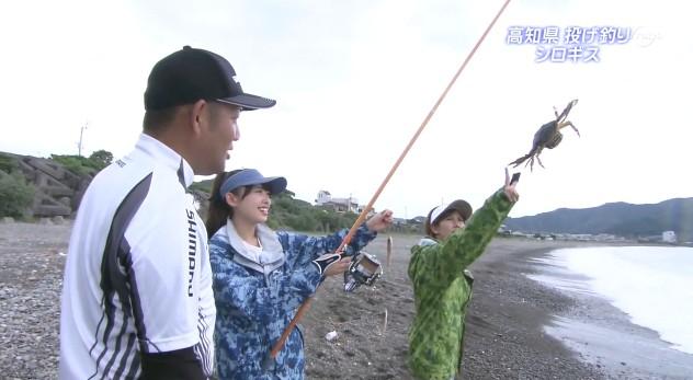 カニを釣る