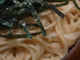 タラコとイカのスパゲティのアップ